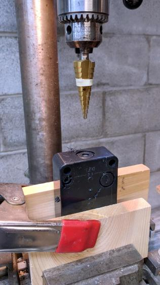 MPCNC - E-stop switch box - drilling