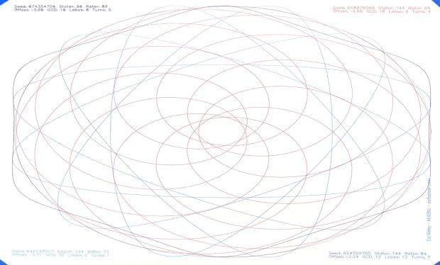 Spirograph pattern - Sakura Micron - Z-0.25