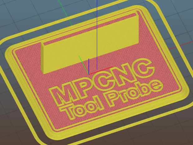 MPCNC Tool Length Probe - Slic3r preview