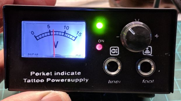 Tattoo power supply - original front panel