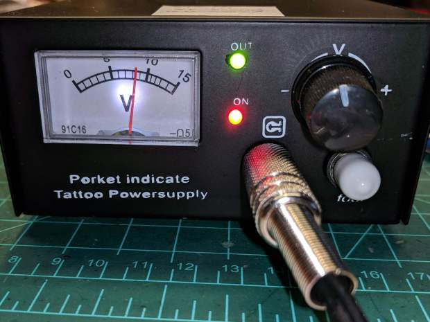 Tattoo power supply - revised front panel