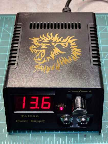 Tattoo Digital Power Supply - front panel