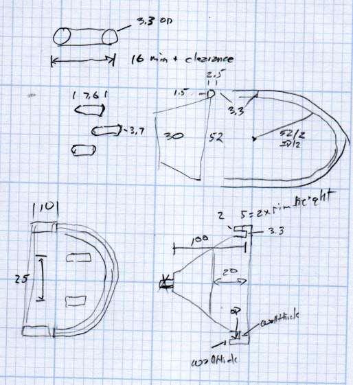Measuring spoon drainer - doodles