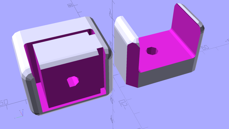 Bar Clamp Mounts - Left - solid model