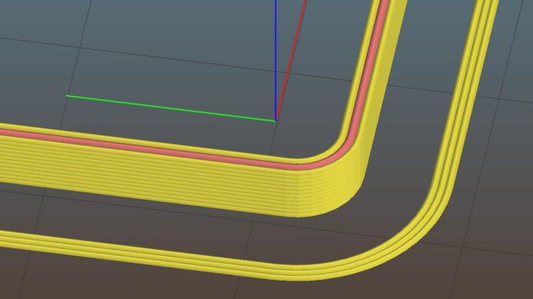 Calibration Boxes - alignment layout - corner detail - Slic3r preview