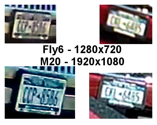 Fly6 vs M20 - License Plates