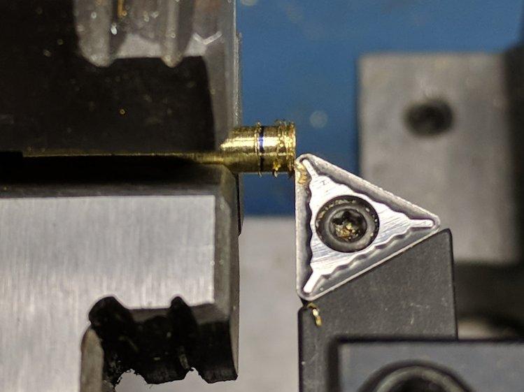 M2 - thermistor brass tube turning