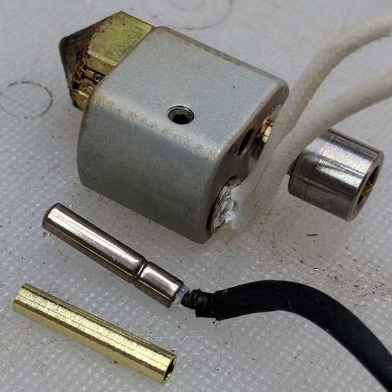 M2 - hot end thermistor - turned brass tube