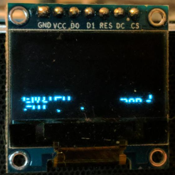 RPi OLED display - garbled