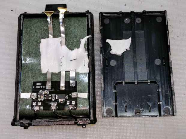 Baofeng BL-5 battery pack - innards