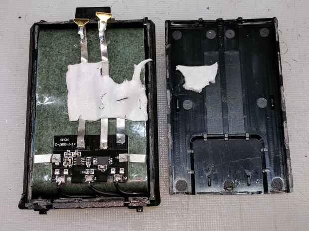 Baofeng BL-5 battery pack - innards