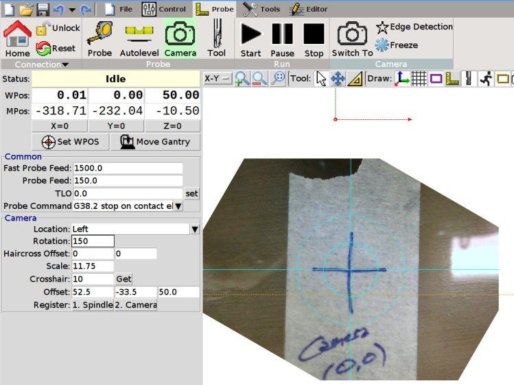 bCNC - Camera - hot glue align