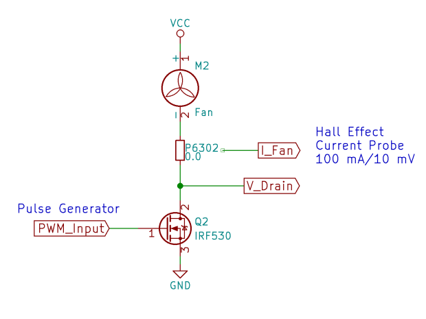 BLDC Fan PWM Test Fixture - schematic
