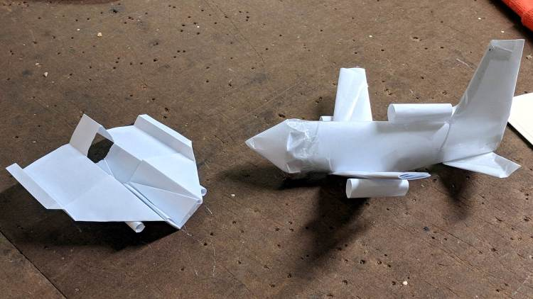 Paper Airplanes - side view