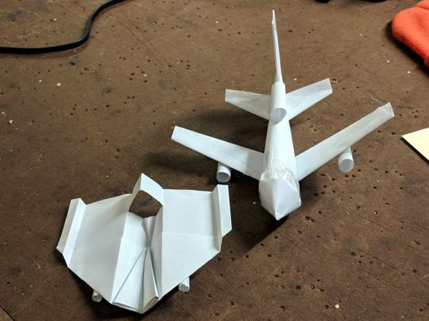 Paper Airplanes - front view