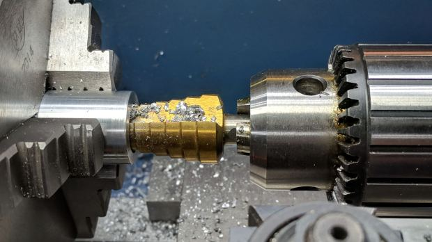 Bench Leg - step-drilling insert