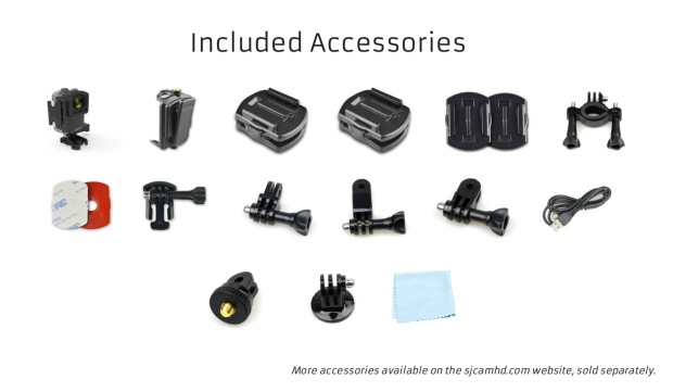 SJCAM M20 Accessories - Manual pg 25