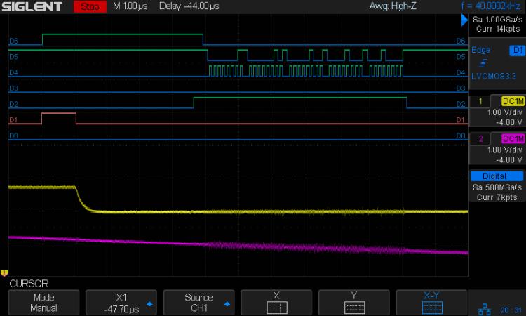 Analog 4 kHz @ 40 kHz - SPI demo detail