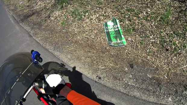 Cannabis Energy Drink - roadside debris
