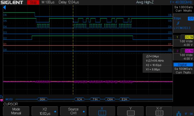 DDS Mock - 0 VAC - SPI detail