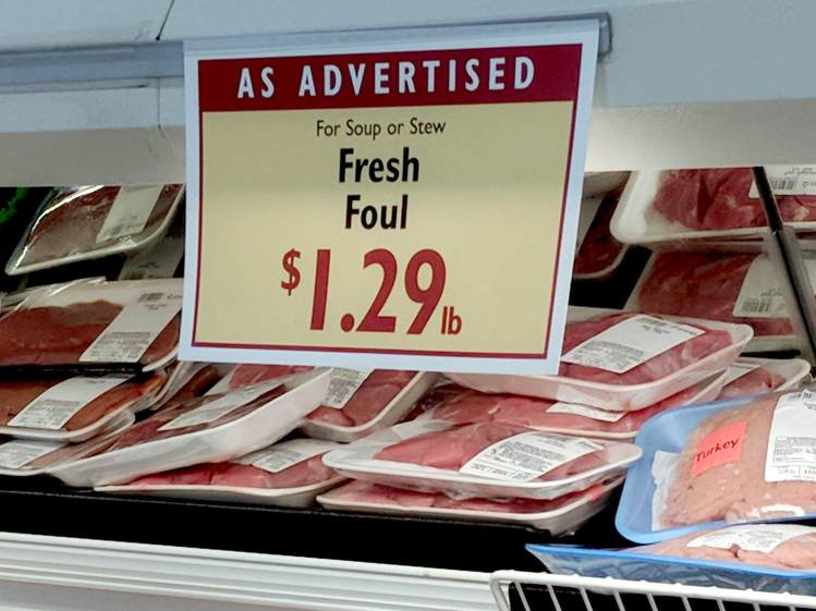 Fresh Foul Meat