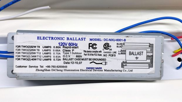 Electronic ballast - label