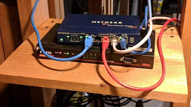 Serial server shelf - front