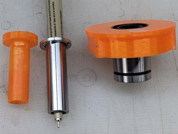 DW660 Pen Holder - printed plastic vs ground steel