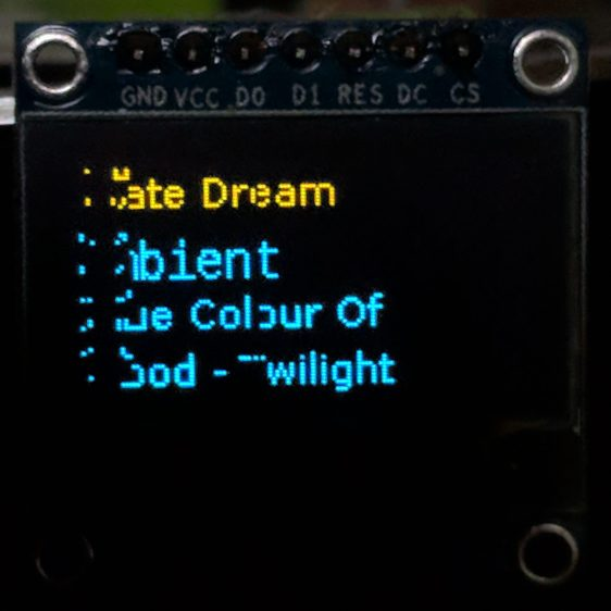 RPi OLED display - left-edge garble