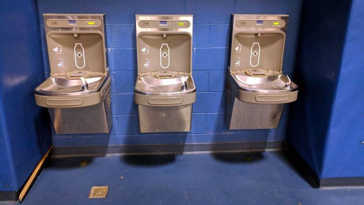 Water bottle refill stations