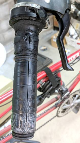 SRAM X.9 Rear Shifter - gummified grip