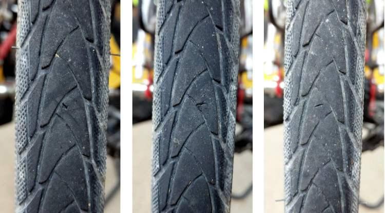 Bike tire tread gashes - composite - 2017-05-13