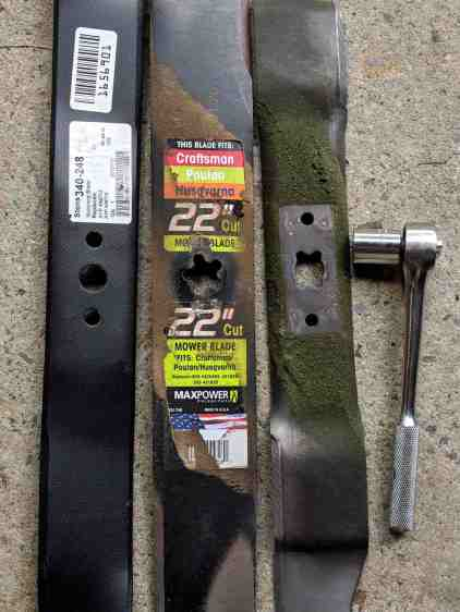 Sears Craftsman mower blades