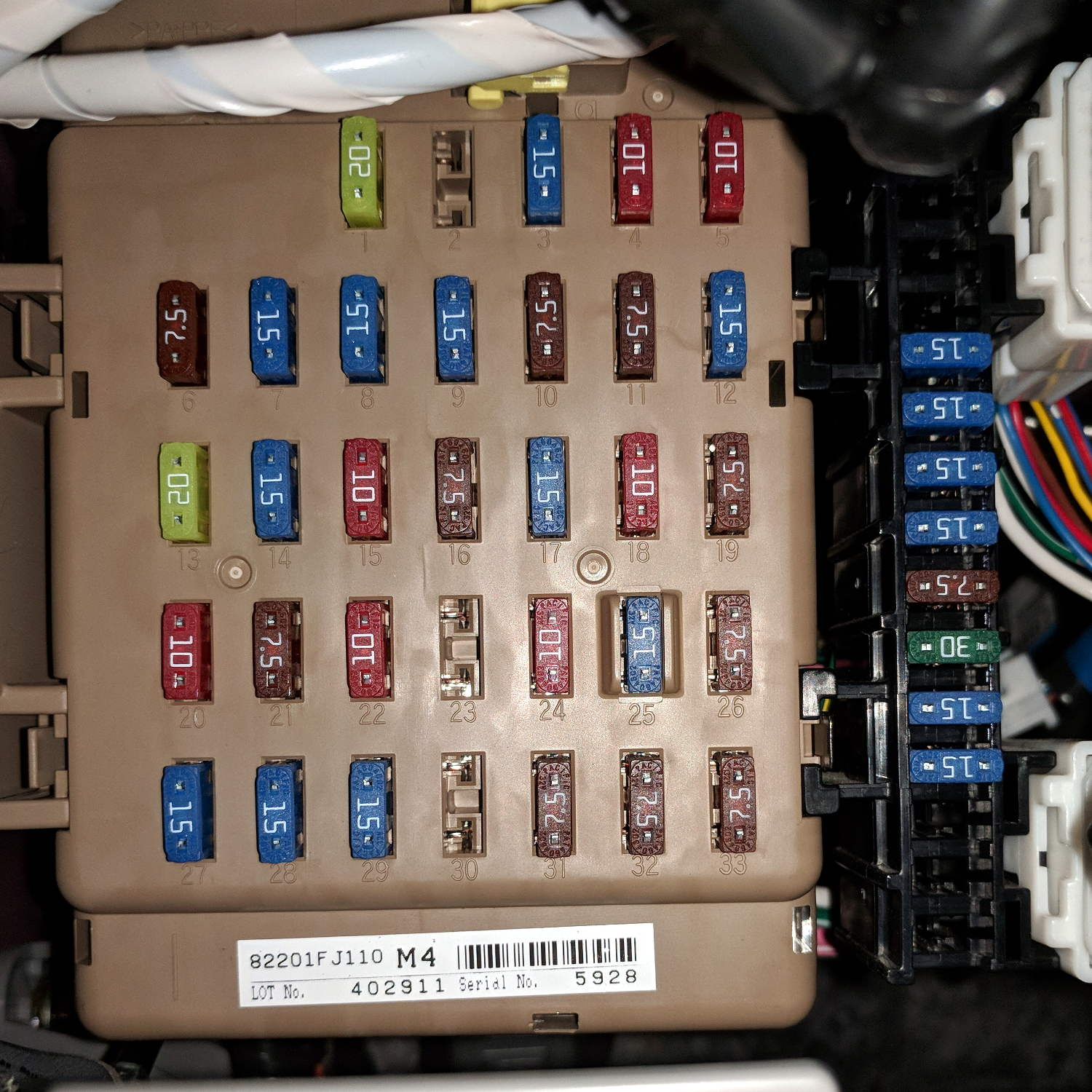 Subaru fuse box wiring diagram