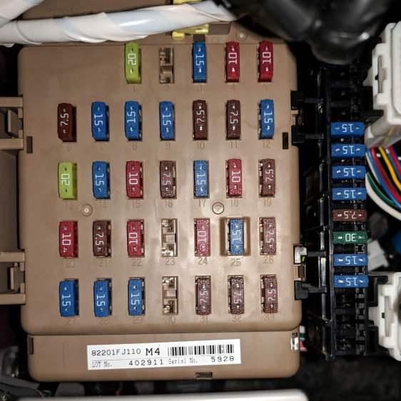 2015 Subaru Forester - dashboard fuse box