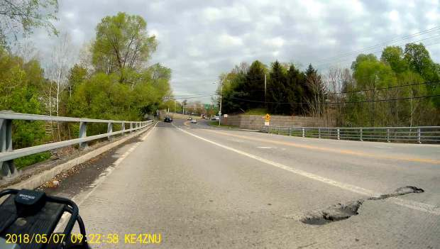 Rt 376 bridge deterioration - marker 1102 - 2018-05-07