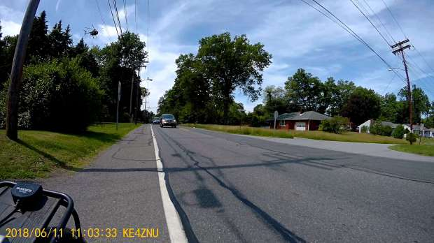 Chopper over power lines - Vassar Rd near Jackson Dr - rear camera - 2018-06-11