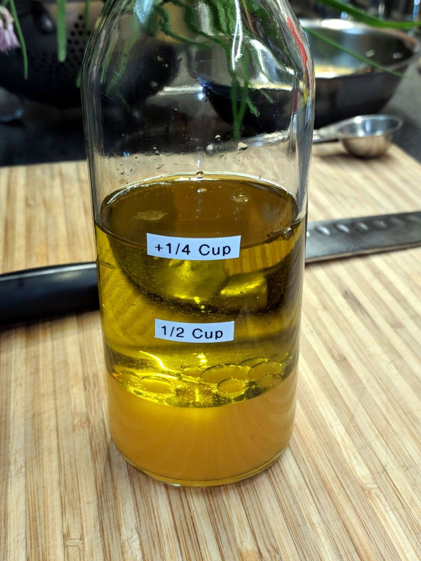 Calibrated Oil-and-Vinegar bottle