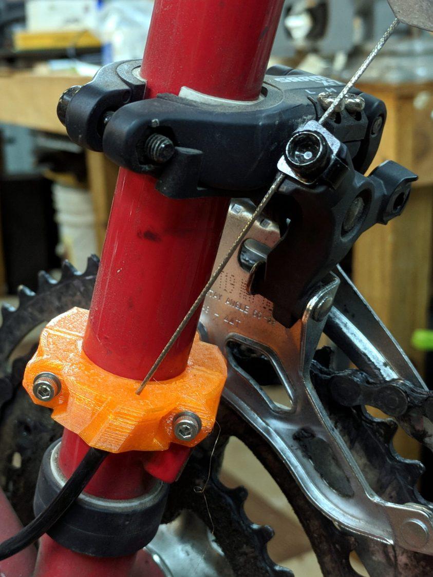 Tour Easy Front Derailleur Cable Clamp V2 - rear quarter view