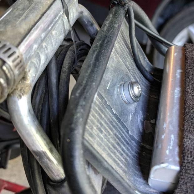 Rack mount screw - rear