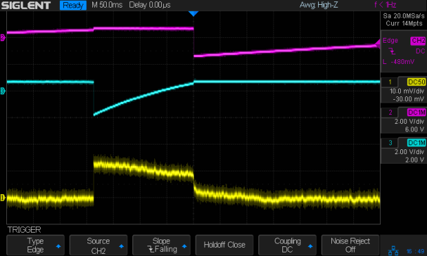 Tek A6302 - Astable multivibrator - LED current 1 mA-div