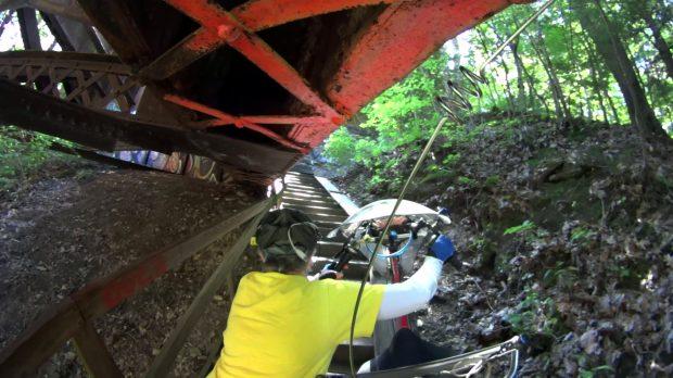 Belmar Bridge Stairs - Low Overhead