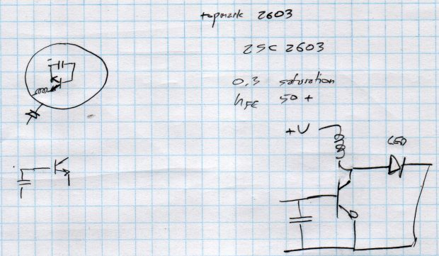Small Sun flashlight - schematic doodle