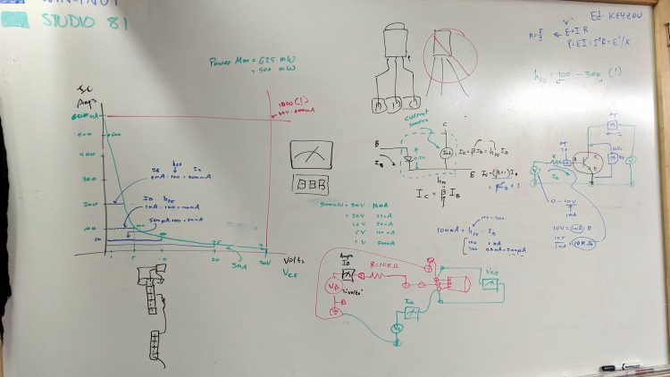 Whiteboard - Session 4 - transistor I vs V plot