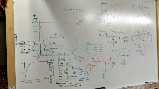 Whiteboard - Session 4 - transistor measurements