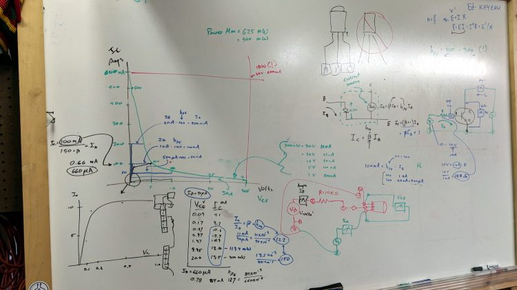 Whiteboard - Session 4 - transistor measurements