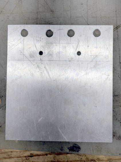 Baofeng headset wire plate - drilled