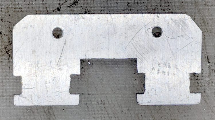 Baofeng headset wire plate - sawed