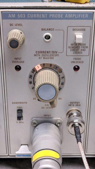 Tek AM503 front panel