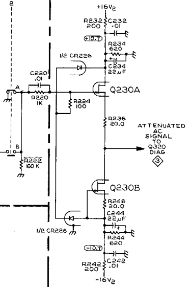Tek AM503 Amplifier - Q230 detail